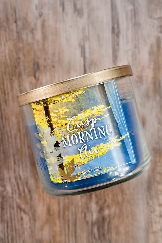 crisp morning air candle; Bath & Body Works