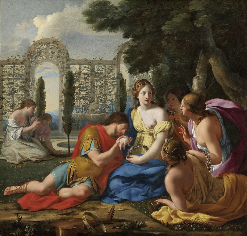 Eustache Le Sueur - Polyphilus and Polia accompanied by nymphs on island of Cythera