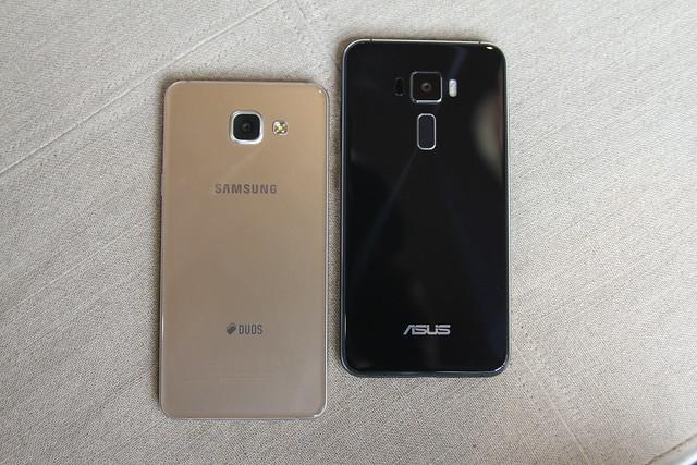 """[So sánh] Samsung Galaxy A5 2016 vs Asus Zenfone 3 5.2"""" - P1: Thiết kế bên ngoài, cấu hình và Pin - 136881"""