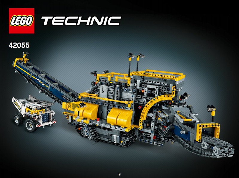 LEGO Technic Bucket Wheel Excavator 42055 Instruction Booklet Book Manual NEW