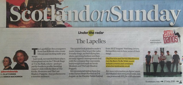 Scotland On Sunday, 17 July 2016, The Lapelles