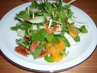 Fennel, Pecan, and Watercress Salad with Orange Vinaigrette