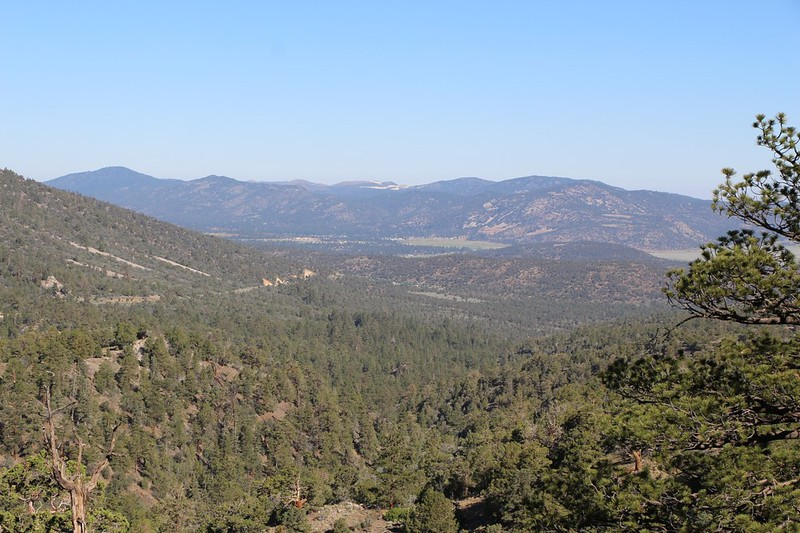 Looking Northwest toward Big Bear City from the PCT near Onyx Summit