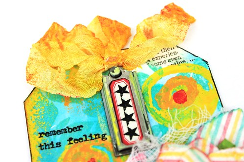 Meihsia Liu Simply paper Crafts Mixed Media Tag Celebrate Simon Says Stamp Monday Challenge 3