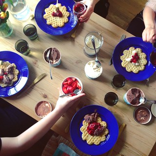 waffles and ice cream, helsingborg