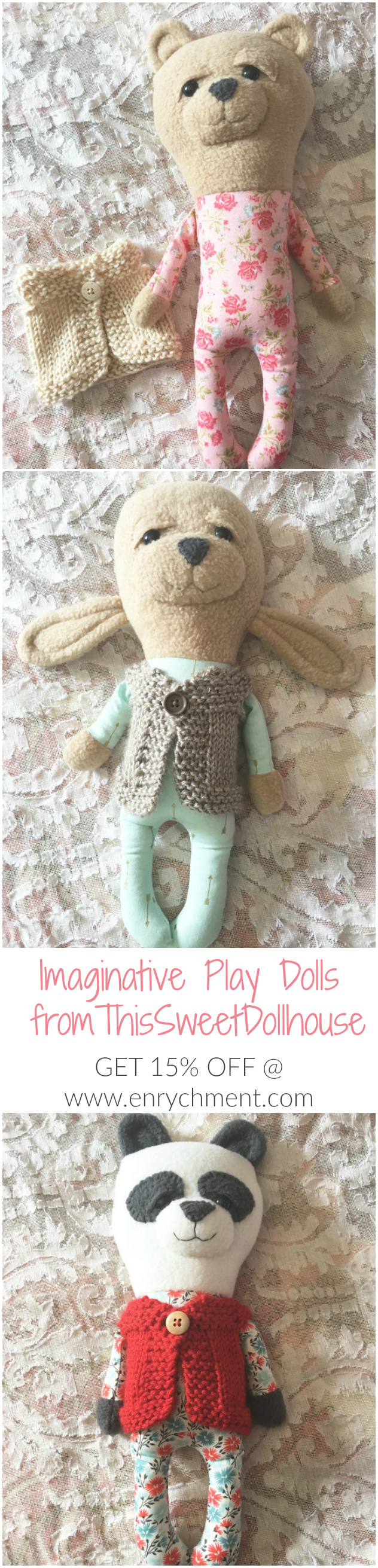 Imaginative Play Dolls from ThisSweetDollhouse - 15% off on www.enrychment.com!