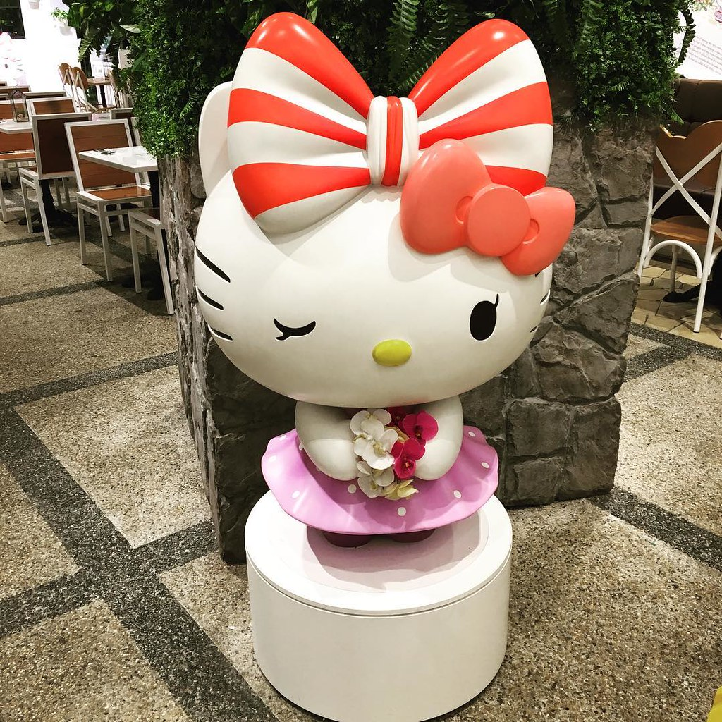 A Garden of Delights at Hello Kitty Cafe Changi Airport Singapore