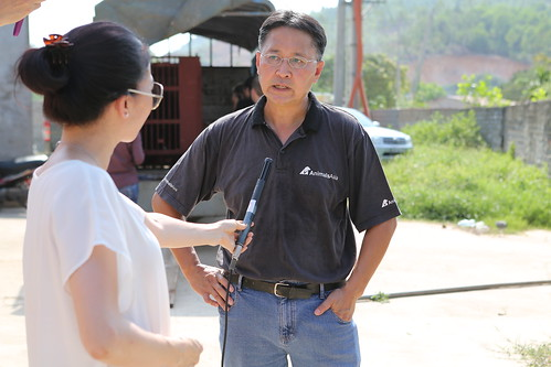 Tuan being interviewed by local media 1