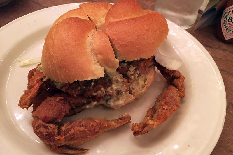 Soft shell crab roll