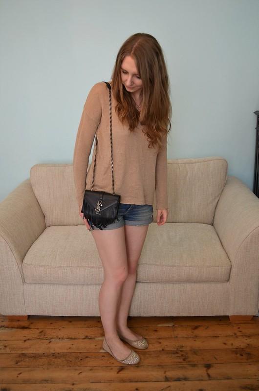Forever 21 sweater & YSL bag 2