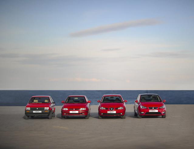 SEAT Ibiza 30 лет. Все поколения с 1984 по 2014 годы