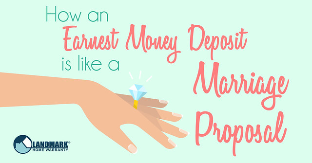 How an Earnest Money Deposit is Like a marriage proposal header