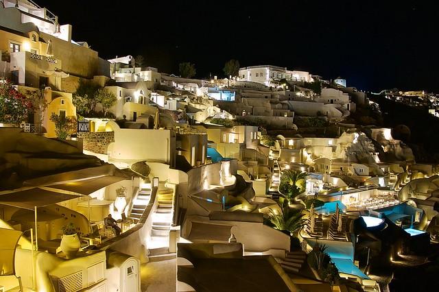 Mystique resort at night