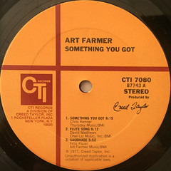 ART FARMER:SOMETHING YOU GOT(LABEL SIDE-A)