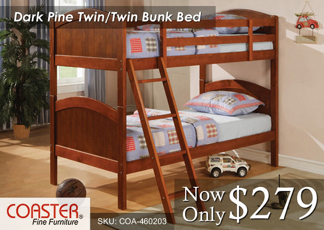 Dark Pine Twin-Twin Coaster Bunk
