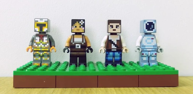New Minecraft minifig packs