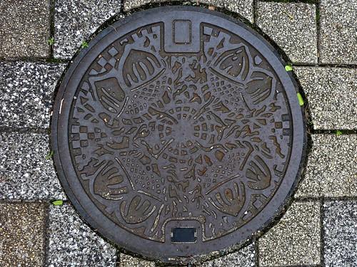 Kitakyushu Fukuoka, manhole cover (福岡県北九州市のマンホール2)