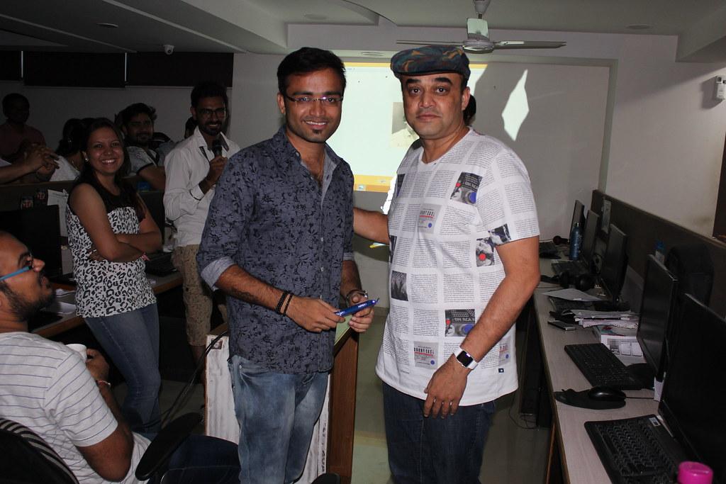 Sunil Vaishnav with Rakesh Patel
