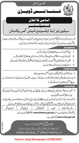Security and Exchange Commission of Pakistan Jobs