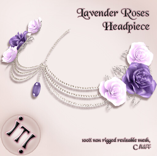 !IT! - Lavender Roses Headpiece Image