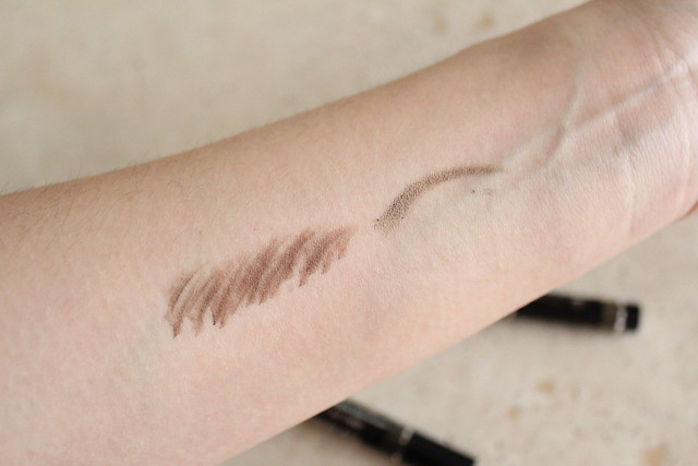 Swatches of Dior Brow Chalk and Diorshow Liner in Pro Grege for fall 2016 makeup
