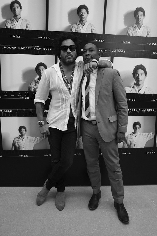 Lenny Kravitz and Franklin Sirmans
