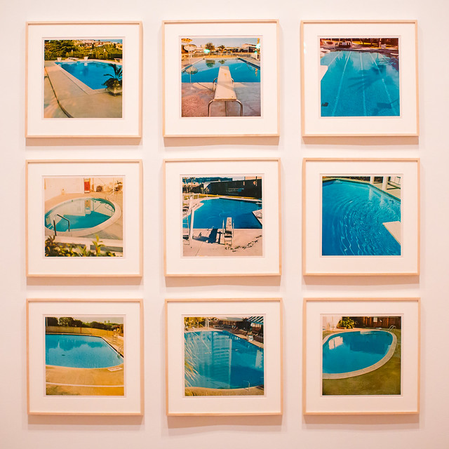 Poolside, Series of Nine Photographs