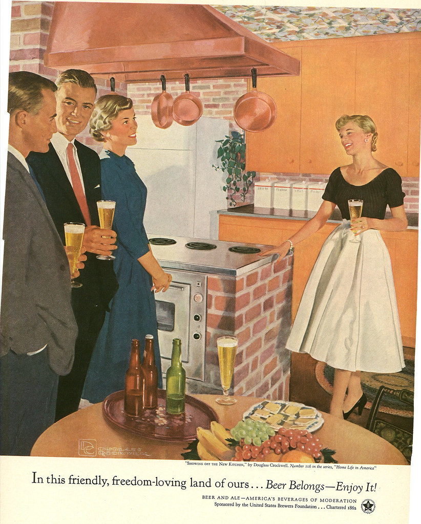 106. Showing Off the New Kitchen by Douglass Crockwell, 1955