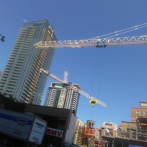 Cranes and Batman #toronto #yongeandeglinton #cranes #construction #batman